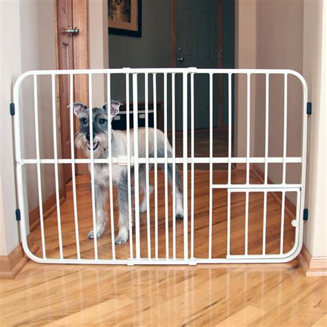 Gate With Pet Door by Carlson Tuffy Expandable Gate With Small Pet Door At