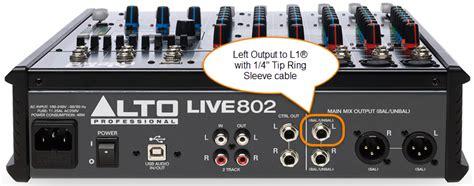 Mixer Alto Live 802 set up of a l1s bose portable pa bose pro