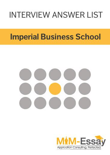 Imperial Mba Review by Imperial Mim Questions Tips