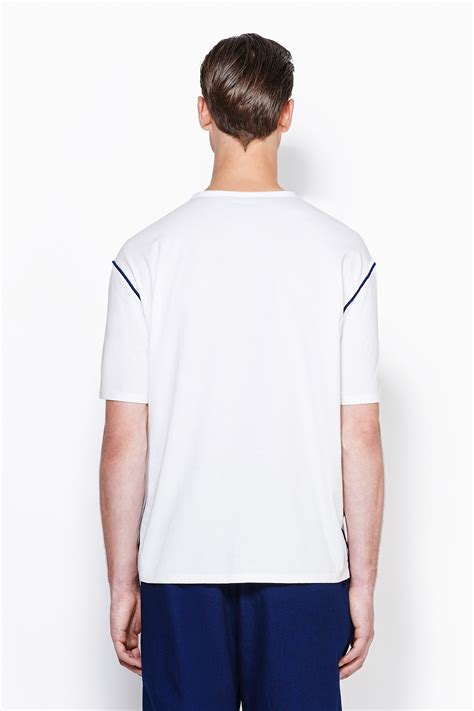 contrast stitching shirt 3 1 phillip lim sleeve dolman t shirt with contrast