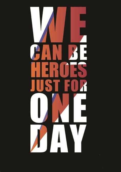 s day lyrics david bowie meaning we can be heroes just for one day david bowie gets his