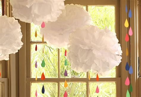 How To Make Home Decorations diy baby shower decoration tissue paper rainbow diy
