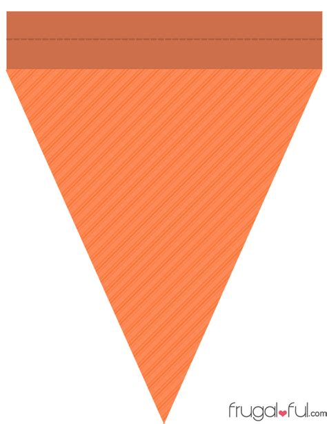 Diy Free Printable Halloween Triangle Banner Template Part 2 Frugalful Free Banner Templates