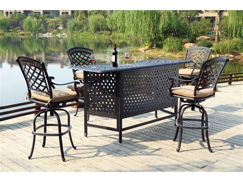 darlee cast aluminum outdoor patio round square bar stool darlee outdoor living standard sedona cast aluminum swivel