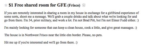craigslist room wanted craigslist dallas the 9 strangest roommate ads you ll find page 9