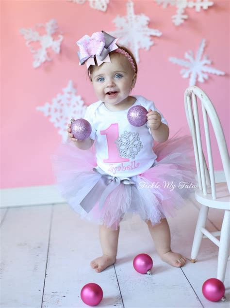 Winter Onederland Pink Snow Ake  Ee  Birthday Ee   Tutu Outfit