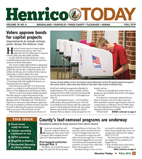 Henrico County Divorce Records Henrico Today S Fall Issue Is Now Available County Of Henrico Virginia