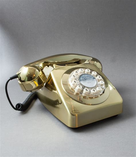house phone metallic gold retro house phone icon 60 telephone