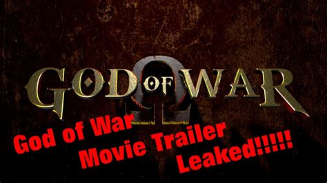 god of war film youtube quot god of war quot movie trailer leaked youtube