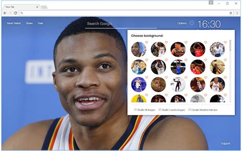 google themes nba nba russell westbrook wallpaper hd new tab chrome web store