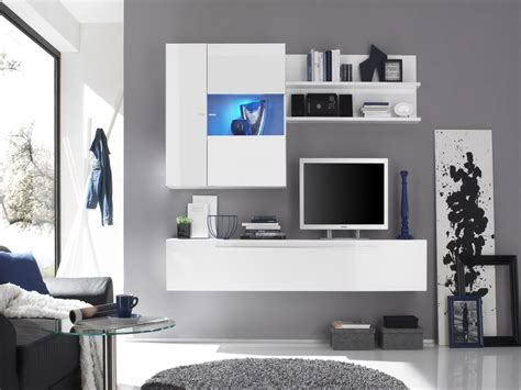 white wall units for living room modern house