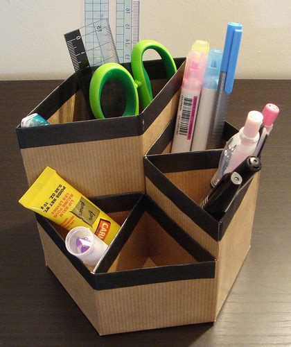 Cardboard Desk Organizer with Cardboard Can Organizers Images