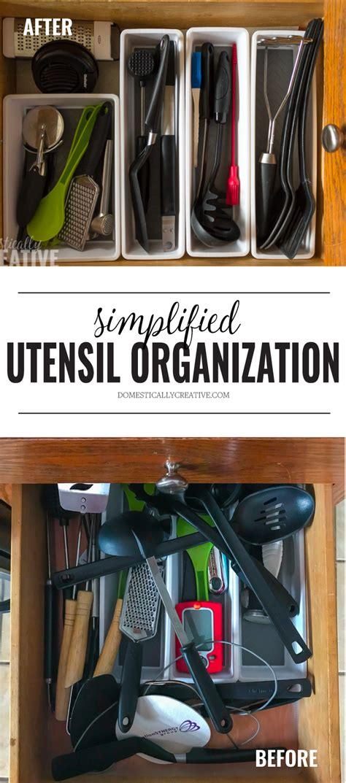 kitchen drawer organizing ideas 2018 simple kitchen utensil drawer organization domestically creative