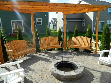Porch Swings Fire Pit Circle Porch Swings Patio Swings Firepit Swing