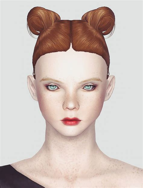 Ox Horns Hair | ox horns hairstyle newsea and ea hair mashup by momo