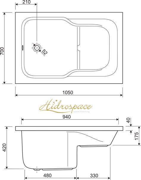 vasca piccola con seduta small 105x70 120x70 vasca da bagno rettangolare con seduta