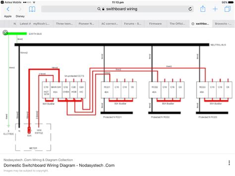 australian domestic switchboard wiring diagram wiring