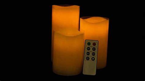 candele a led con telecomando 3 candele led con telecomando effetto fiamma