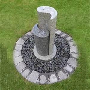 solar powered water feature with lights solar powered aqua yin yang by aquamoda granite water