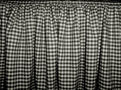 Black Gingham Check Bedskirt (in all sizes from twin to