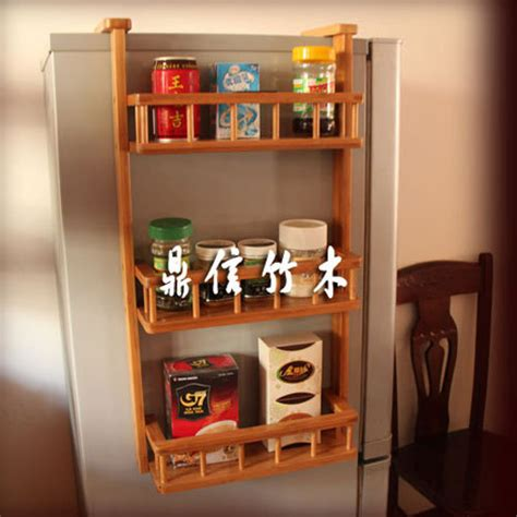 Refrigerator Spice Rack by Bamboo Wood Refrigerator Rack Bathroom Storage Rack Wall
