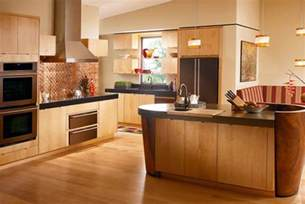 Kitchen Cabinet Interiors by Maple Wood Kitchen Ideas Pictures Decosee