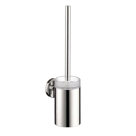 shop hansgrohe accessories brushed nickel brass toothbrush hansgrohe e wall mounted brass toilet brush with holder in