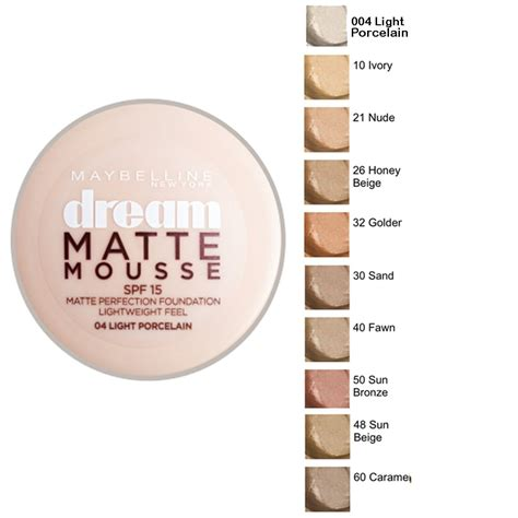 Maybelline Superstay Matte Foundation maybelline matte mousse perfection foundation spf15