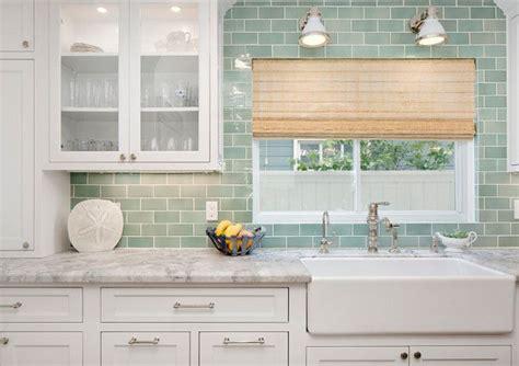 green backsplash kitchen seafoam green subway tile backsplash kitchen with white cabinets and seafoam green subway tile