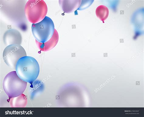 pink and purple lights pink blue purple balloons on light stock illustration
