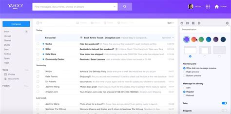 new layout of yahoo mail layout yahoo mail yahoo mail inbox layout new yahoo mail