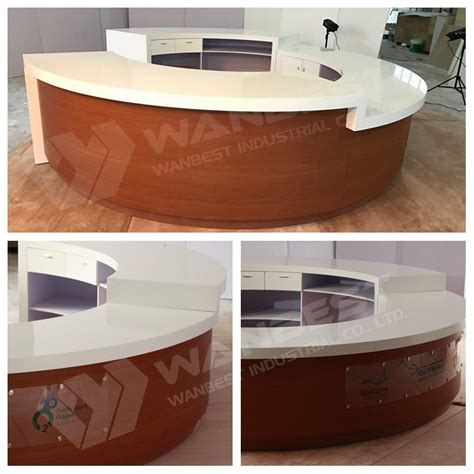 Circle Reception Desk Large White Modern Semi Circle Solid Surface Reception Desk From China Stonecontact