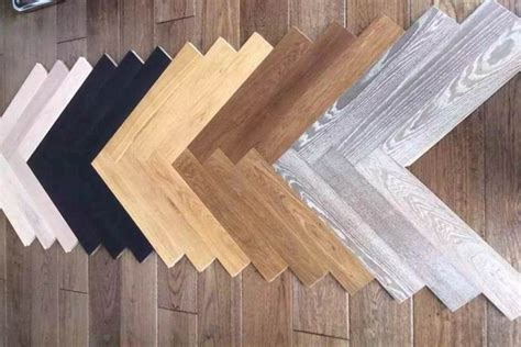 multi color oak herringbone hardwood flooring