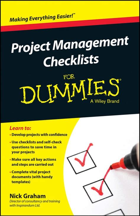 Project 2010 For Dummies project management checklists for dummies free ebooks