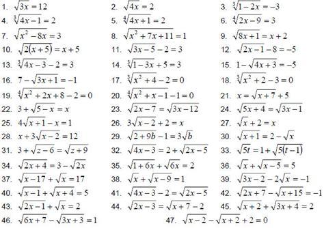 Radical Equations Worksheet by Radical Equation Review Worksheet Match Up Worksheets