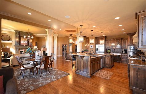 open concept kitchen dining room floor plans useful ideas to add coziness to open floor plan home