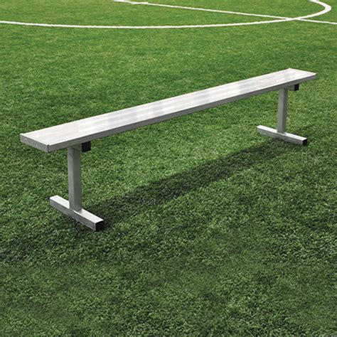 player benches 15 player bench w o seat back portable natural finish jaypro sports equipment