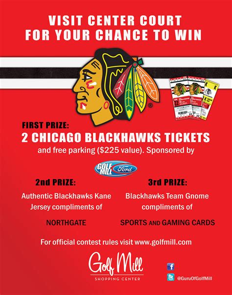 Blackhawk Game Giveaways - blackhawks tickets giveaway at golf mill shopping center park ridge herald advocate