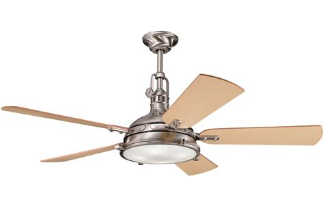 kichler hatteras bay fan kichler 300018bss brushed stainless steel 56 quot indoor