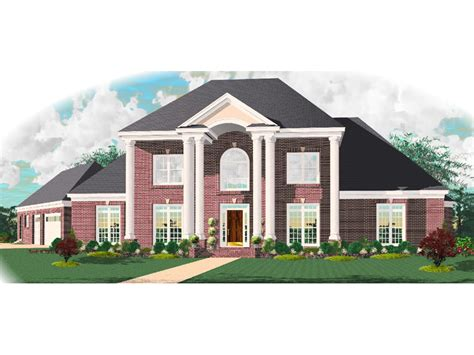 anjou colonial luxury home plan 087d 1010 house plans