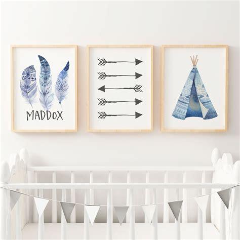 boys boho wall art nursery bedroom prints  kids