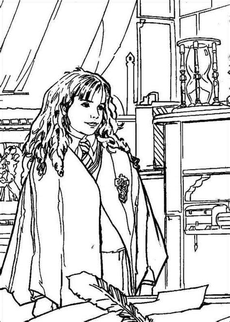 harry potter cartoon coloring pages harry potter 055 coloring page