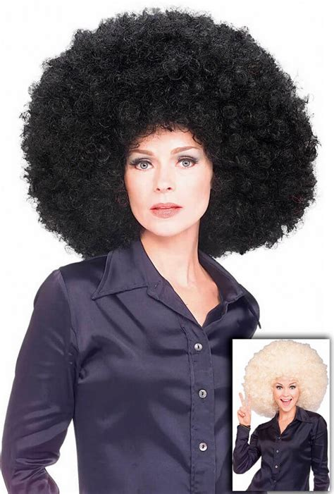 home wigs mens wigs black clown afro wig black clown afro super afro wig black or blonde candy apple costumes