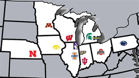 big ten map touch the banner where are the 2012 big ten recruits from