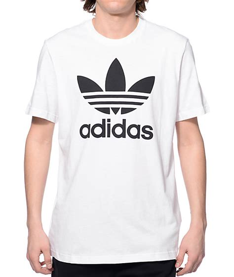 T Shirt Pdp adidas original trefoil white t shirt at zumiez pdp