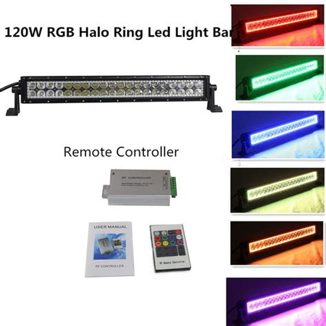 color changing led light bar offroad straight 20 22 inch 120w color changing led light bar