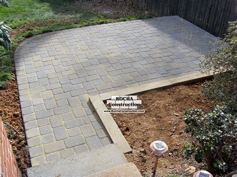 Patio With Concrete Pavers Simple Paver Patio Home Design Scrappy