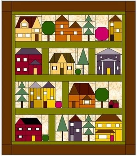 quilt pattern house block elins kreative side come over to my house free bom from