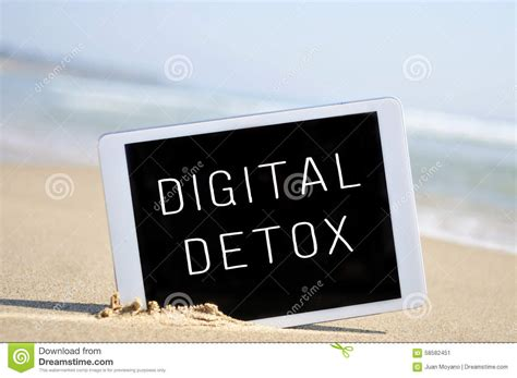 Wrote On Detox by Text Digital Detox In A Tablet Computer In The Sand Of A