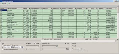 contabilità sezionale schede contabili